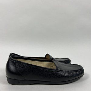 SAS Black Leather Women's Loafers